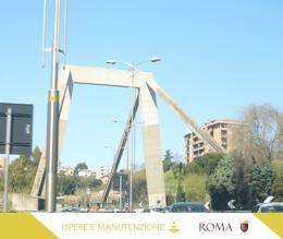 Ponte della Magliana, proseguono i lavori. Previste deviazioni e chiusure