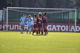 A- Roma, vittoria batticuore: Napoli ko al Tre Fontane