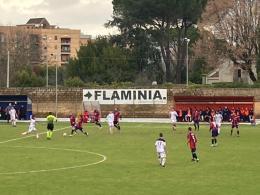 Il Flaminia non riesce a sfondare, arriva un punto col Montevarchi