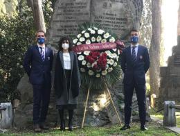 Anniversario Sarina Nathan, Asilo Savoia depone corona in sua memoria