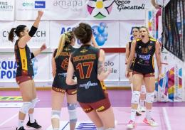 A2 - Roma continua a volare: Vallefoglia battuta in 3 set