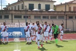 Aquila Montevarchi a un passo dalla Serie C: tris alla Flaminia