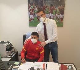 Roma, un'altra firma. Primo contratto da prof per Yuri Rocchetti
