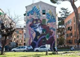 Le periferie di Roma si colorano con la street art