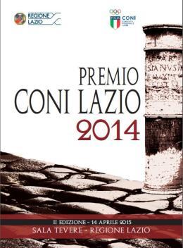 Martedì 14 Aprile appuntamento con il Premio Coni Lazio