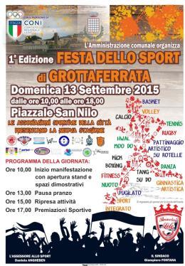 Domenica appuntamento con la I Festa dello Sport
