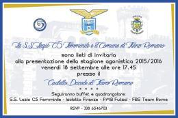 Il 18 a Fiano Romano si presenta la Lazio Femminile