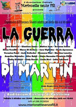"""Palestrina, Marionette senza fili presenta """"La Guerra di Martin"""""""