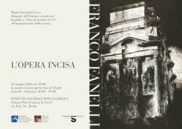 "Roma Capitale: Palazzo Poli ospita "" Franco Fanelli - l'Opera incisa"""