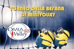Omia Volley: torneo di minivolley per la Befana