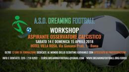 """Dreaming Football, Valente: """"Vi aspettiamo al Workshop!"""""""