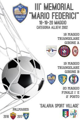 Presentata la III edizione del Memorial Mario Federici