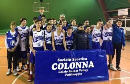 Colonna, l'Under 14 perde gara 1 contro Motta Camastra