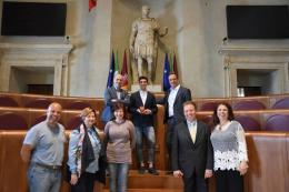 Davide Di Veroli premiato da Frongia in Campidoglio