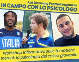 La Dreaming Football scende in campo con lo psicologo