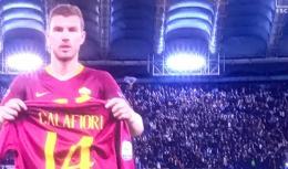 Calafiori, l'abbraccio della Roma: Dzeko gli dedica il gol