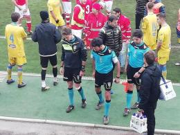 Arbitro infortunato, interrotta Frosinone-Perugia