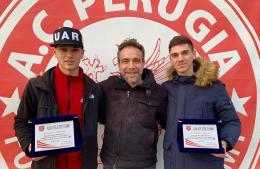 Atletico 2000: premiati Gabrielli e Piacentini, da sempre biancorossi