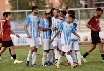 Esultanza dell'Aprilia (Foto ©Aprilia Calcio/FB)