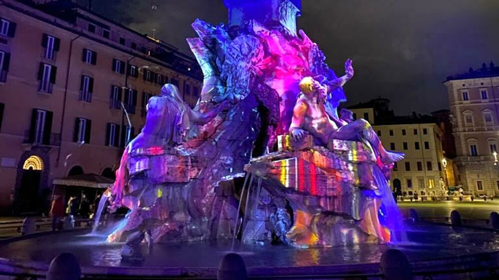 Piazza Navona Light Show