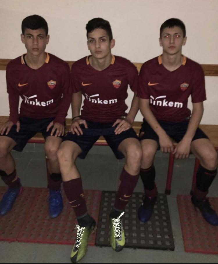 Ferrante e Mancino, con la maglia della Roma, insieme a Rosa, ora all'Atalanta